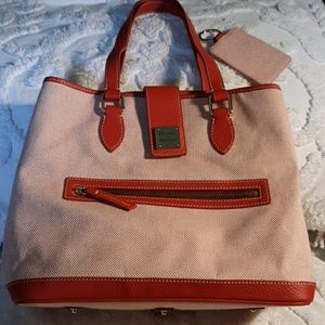 Dooney and Burke Cotton & Leather Tote